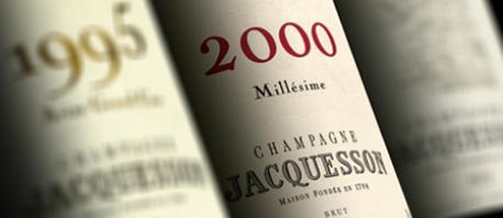 Jahrgangs-Champagner